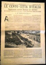 LE CENTO CITTA' D'ITALIA, FOGGIA -SUPPLEMENTO MENS.ILL. del SECOLO - ANNO 1894