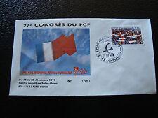 FRANCE - enveloppe 21/12/1990 27e congres du PCF (cy7) french (a)