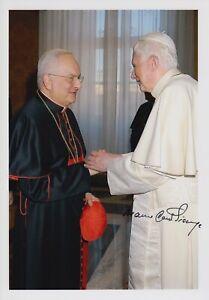 Original signiertes Foto Kurienkardinal Mauro Cardinal Piacenza - Papst BXVI.