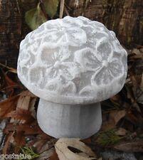 2 piece flower mushroom mold reusable plaster concrete casting