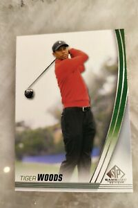 2021 SP Game Used Tiger Woods Base Card #1 w/ 3 Other Cards- Lehman Perez Points