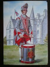 POSTCARD DRUMMER THE 70TH REGIMENT OF FOOT 1758