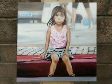 oil painting portrait Unicef Street Child.