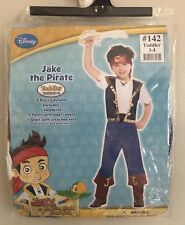 NWT JAKE THE PIRATE DRESS UP HALLOWEEN COSTUME  TODDLER'S Size  3-4