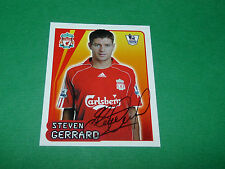N°315 STEVEN GERRARD LIVERPOOL MERLIN PREMIER LEAGUE FOOTBALL 2007-2008 PANINI