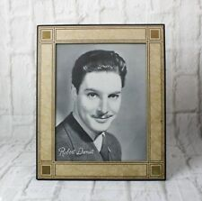 Vintage Art Deco Leather Picture Frame Easel Back Robert Donat Picture