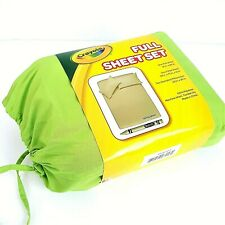 Crayola Full Size Sheet Set  4 Piece Spring Green New in Package