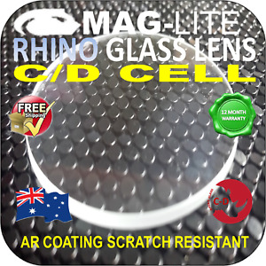 MAGLITE UPGRADE C-D GLASS LENS FLASHLIGHT TORCH AR SHOCK SCRATCH RESISTANT AU