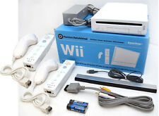 Nintendo Wii Video Game System 2-REMOTE Bundle RVL-001 GameCube Console WHITE
