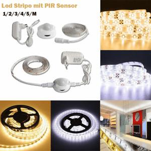 5 M LED Stripe Lichtleiste mit PIR Bewegungsmelder Lichtband Streifen Light Band