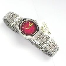 ORIENT 3 Star Automatic Watch LADIES Silver Tone Red dial 1NQ03005H9 NEW