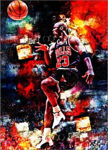 2021 Michael Jordan Chicago Bulls  1/25 Art ACEO Red Sketch Print Card By:Q