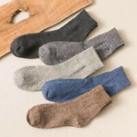 5 Pairs/Lot Men's Wool Cashmere Design Thick Warm Casual Soft Winter Boot Socks