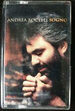 Andrea Bocelli Sogno Cassette Classical Opera Latin Italian Pop