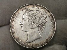 1899 Silver 50¢ Fifty Cent Newfoundland CANADA.  #131