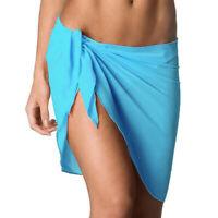 Beach Skirt Women Short Wrap Sarong Bikini Cover Up Summer Dress Summer Chiffon