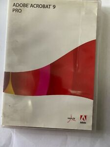 Adobe Acrobat 9 Pro for Windows NO SERIAL NUMBER CD ONLY