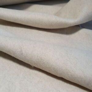 Wolltuch sehr Edle Stoff Kaschmir Farbe ecru 0,5 m. PREMIUM QUALITÄT weich Wolle
