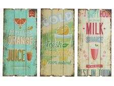 Wandschild Plankenschild Shabby Stil Türschild Vintage Wandbild Drinks 60x30 cm