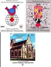 France 1976 - Lot de 3 carnets Croix rouge 1974  1975 1976 NEUFS**