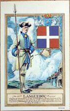 1940s Fort Ticonderoga Linen Postcard: 53rd Languedoc Regiment