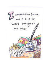 I Understand Santa Has A List Of Who's Naughty and Nice Greeting Card 10ct