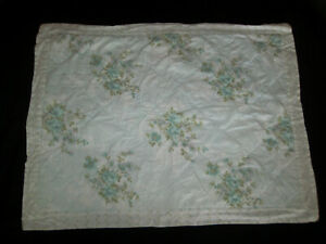 Simply Shabby Chic Standard Pillow Sham Cottage Floral Blue Green White Purple