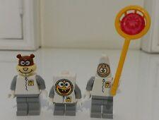 LEGO Spongebob Set of 3 Spongebob, Sandy Cheeks, Patrick Mini Figures  (NO Tags)