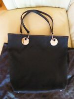 Vintage  Ladies Gucci Black  Shopper Tote Bag Handbag Genuine LARGE