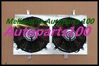 For Nissan Silvia S13 CA18DET aluminum fan shroud with 2*12'' fans