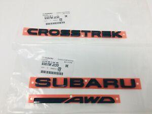2017 Subaru Crosstrek Rear Tailgate Letter Marker SET 93079FJ230 93079FJ220 OEM