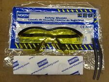 1 new North Safety T56005BA Glasses Eyeware Wraparound Unilens Amber Lens #68533