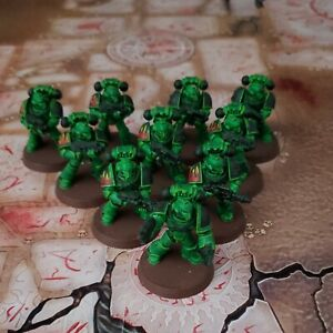 Warhammer 40k Heresy Space Marines Tactical Squad Painted Lot 9