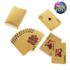 24k 999.9 Gold Foil Plated Poker Playing Cards Deck Christmas Gift