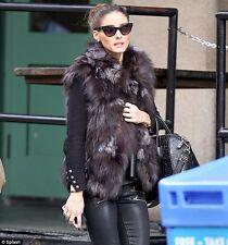 Donna gilet  pelliccia vera pezzi volpe cappotto senza maniche in pelliccia fur