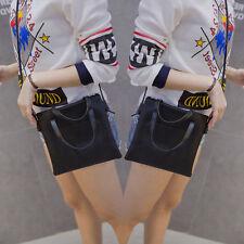 Mujer Bolso De Moda Cuero Cruzado Bandolera Grande Compras Monedero Para Dama