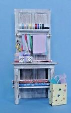 Dollhouse Miniature GIft Wrapping Center Handcrafted paper cards ribbon 1:12