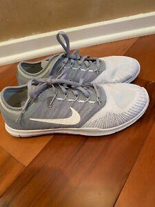 Nike Flex Adapt TR Womens White Gray Canvas Low Top Athletic Cross Training 8.5