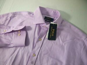 NWT Polo Ralph Lauren Mens Dress Shirt 16 1/2 34-35 Orchid Purple Easy Care