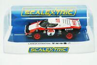 NEW Scalextric Lancia Stratos San Remo Rally 1978 1/32 Slot Car FREE US SHIP