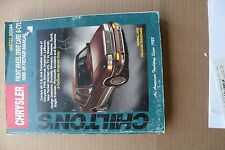 Chilton Repair Manual Chrysler Front Wheel Drive Cars Six Cylinder 1988- 95.