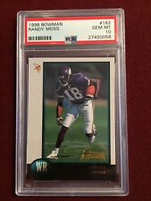 Randy Moss 1998 Bowman Rookie Card RC  PSA 10 Gem Mt