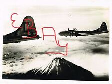 WWII  8X10 PHOTOGRAPH OF 20TH USAAF 314TH BW B-29 BOMBING MISSION MT FUJI LOOK