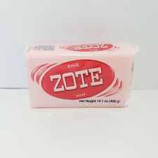 NEW ZOTE Pink Bar Soap 14.1 oz More Whitening Power for Laundry Fatty Acids
