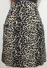 xxi Women Zip Up Animal Print Leopard Stretchable Sexy Mini Skirt Sz Small