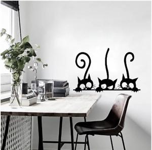 Lovely Three Black Cat DIY Wall Stickers Animal Room Decoration personality Viny