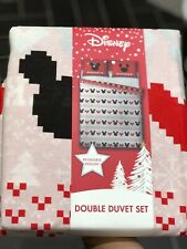 Disney Christmas Mickey and Minnie Mouse Double Duvet Bedding Set from Aldi