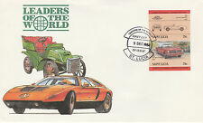 St Lucia 4976 - 1984 CARS - FORD MUSTANG 75c IMPERF PAIR on FIRST DAY COVER