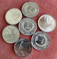 LOT 7x ANDORRA 1 CENTIM 1999 FAO COMMEMORATIVE WINGED ANGEL WHEAT 7 UNC COIN G94