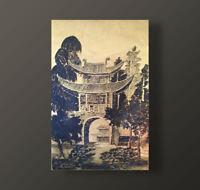 E. CICILIANO, LA PORTE DU JARDIN / GARDEN DOOR, ENCRE SUR PAPIER DORE, VIETNAM